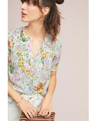 8c664cbf077f56 Anthropologie Colloquial Blouse in Green - Lyst