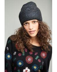 Helene Berman - Blue Sannita Metallic Knit Beanie - Lyst