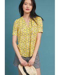514d3042cdb27a Anthropologie Colloquial Blouse in Yellow - Lyst