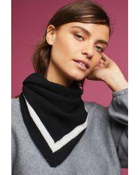 White + Warren - Black Striped Cashmere Scarf - Lyst