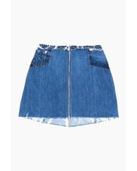 Re/done - Blue Zip Mini Skirt - Lyst