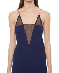 AQ/AQ - Blue Montana Deep Plunge Mini Dress - Lyst