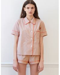 Araks Shelby Pajama Top Penny Chambray in Pink - Lyst 424371959
