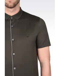 Emporio Armani - Green Short-sleeved Polo Shirt for Men - Lyst