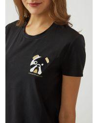 Emporio Armani - Black T-shirt - Lyst