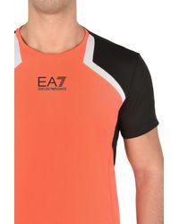 EA7 | Orange Short Sleeved T-shirt for Men | Lyst