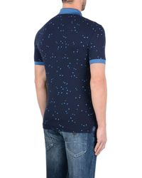 Armani Jeans - Blue Short-sleeved Polo for Men - Lyst