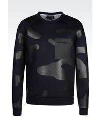 Emporio Armani - Blue Sweatshirt for Men - Lyst