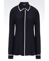 Armani Jeans   Blue Long Sleeve Shirt   Lyst