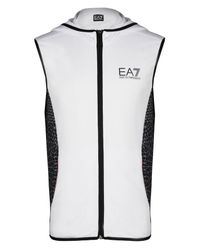 EA7 | White Hooded Sweatshirt for Men | Lyst