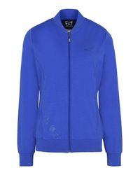 EA7 | Blue Zip Sweatshirt | Lyst