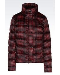 Armani Jeans | Red Down Coat | Lyst