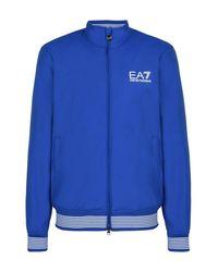 EA7 | Blue Bomber Jacket for Men | Lyst