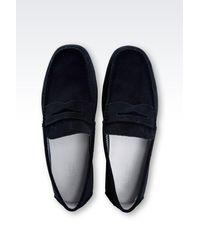 Armani Jeans | Blue Loafer for Men | Lyst