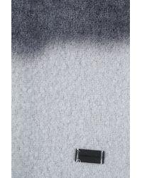Emporio Armani - Gray Scarf for Men - Lyst