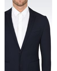 Emporio Armani - Blue Two Button Jacket for Men - Lyst
