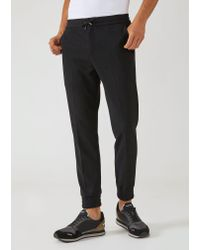 Emporio Armani - Black Joggers for Men - Lyst