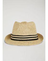 Emporio Armani Natural Fedora Hat for men