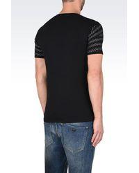Emporio Armani | Black Short-sleeve T-shirt for Men | Lyst