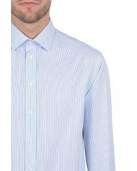 Armani - Blue Long Sleeve Shirt for Men - Lyst