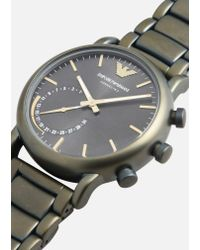 Emporio Armani - Gray Hybrid Watch for Men - Lyst