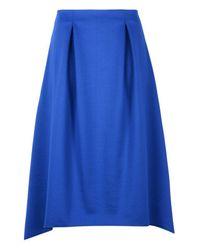 Armani Jeans - Blue 3/4 Length Skirt - Lyst