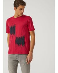 Emporio Armani - Red T-shirt for Men - Lyst