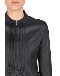 Armani - Black Leather Jacket - Lyst