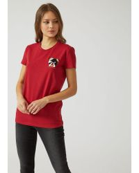 Emporio Armani - Red T-shirt - Lyst