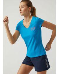 Emporio Armani - Blue T-shirt - Lyst