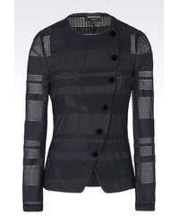 Emporio Armani | Black Jacket | Lyst