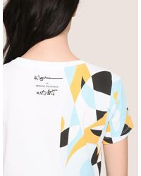 Armani Exchange - White Womens Street Art Series Ruben Sanchez Tee - Lyst