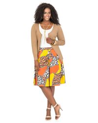 Ashley Stewart - Multicolor Basic Zip Cardigan - Lyst