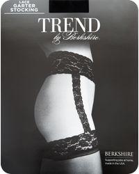 Ashley Stewart - Black Berkshire Lace Garter Stocking - Lyst