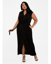 40e835ef743eb Lyst - Ashley Stewart Plus Size Sleeveless Tulip Hem Maxi Dress in Black