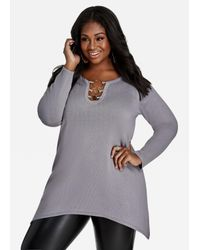 Ashley Stewart | Multicolor 3 Ring Sweater | Lyst