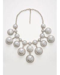 Ashley Stewart - Multicolor Plus Size Starburst Pearl Necklace - Lyst