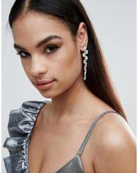 Krystal London - Metallic London Swarovski Crystal Trellis Mis-match Earring - Lyst