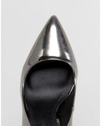 ASOS - Metallic Paris Pointed High Heels - Lyst