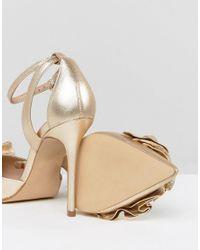 Carvela Kurt Geiger - Metallic Ruffle Heeled Shoes - Lyst