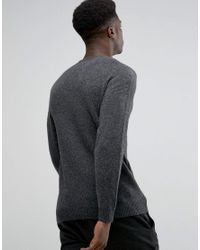 SELECTED - Red Structued Cotton Knitwear With Acid Wash for Men - Lyst