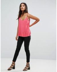 Mango - Pink Scoop Front Cami Top - Lyst