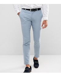 Only & Sons - Blue Skinny Wedding Suit Pants for Men - Lyst