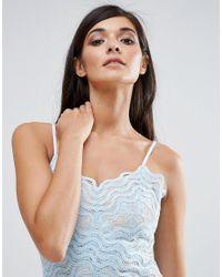 Aijek - Blue Lace Wiggle Mini Dress - Lyst