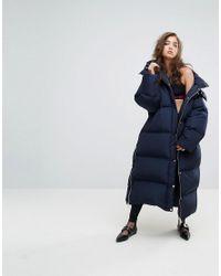 626f0b2c Tommy Hilfiger Gigi Hadid Longline Padded Jacket in Blue - Lyst