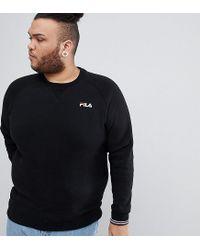 df3fb2bb039a Fila Vintage Sweatshirt With Small Script In Black in Black for Men ...