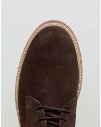 KG by Kurt Geiger - Kg By Kurt Geiger Morcombe Derby Shoes With Contrast Sole Brown for Men - Lyst