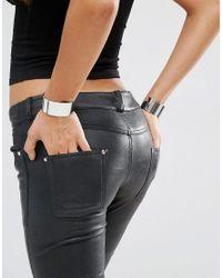 ASOS - Metallic Pack Of 2 Minimal Cuff Bracelets - Lyst