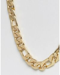 ASOS - Metallic Gold Plated Heavyweight Chain for Men - Lyst