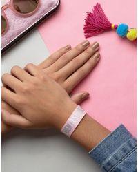 ASOS - Pink Hen Hen Fest Bracelet - Lyst